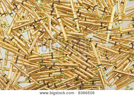 Golden pins