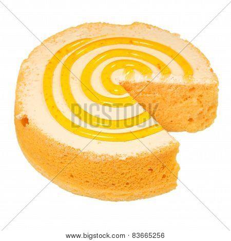 Sponge Cake Isolated On White