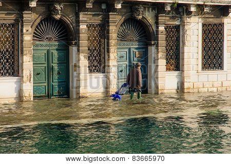 Flooded Street, Venice