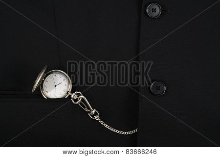 Pocket watch in a business suit