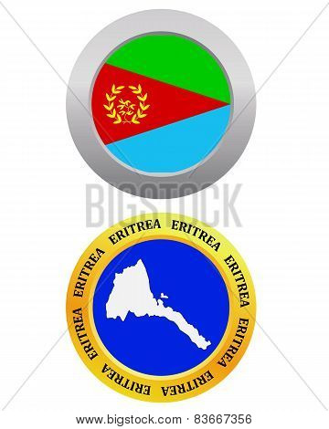 Button As A Symbol Map Eritrea
