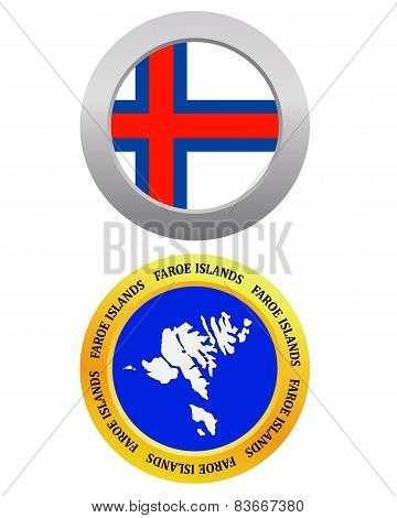 Button As A Symbol Map Faroe Islands