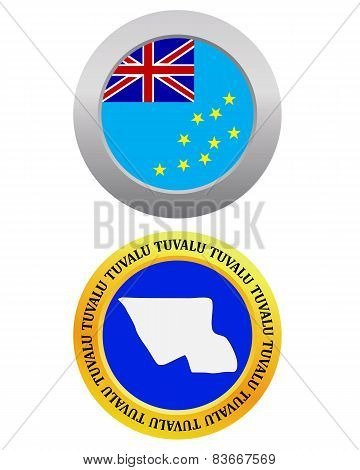 Button As A Symbol Map Tuvalu