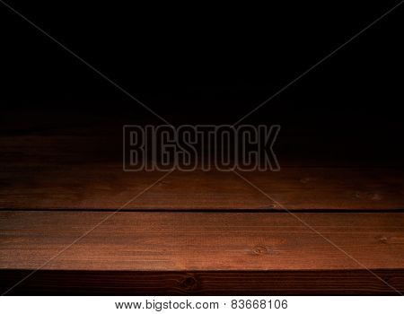 Brown wooden boards background composition