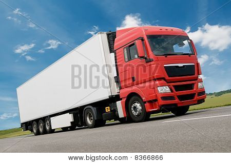 Freight Truck On Road