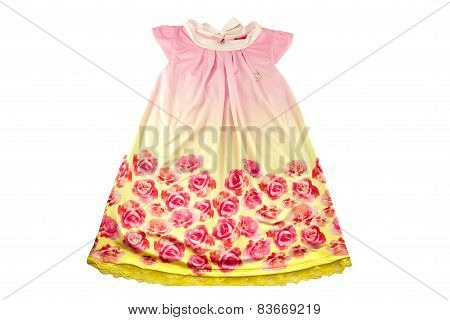 Baby dress with rose flowers