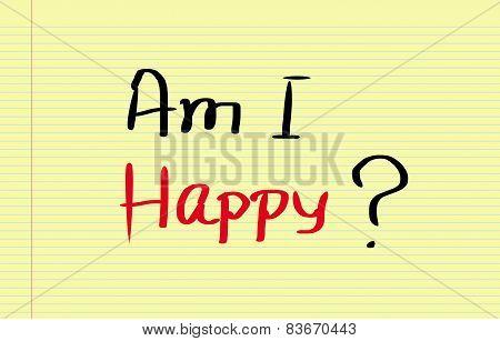 Am I Happy Concept