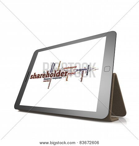 Shareholder Word Cloud On Tablet