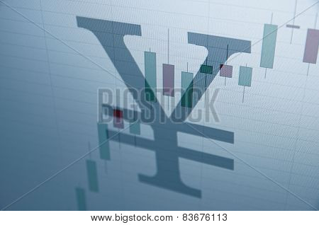 Yen sign. Financial concept.