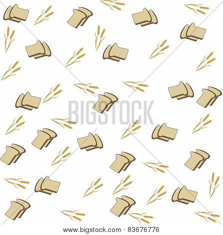 Background Of The Bread And Spikelets