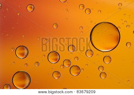 Yellow and orange oil and water abstract