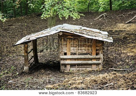 Wooden Shelter For Farm Animals