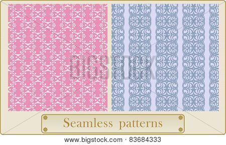 Vector seamless lace pattern.