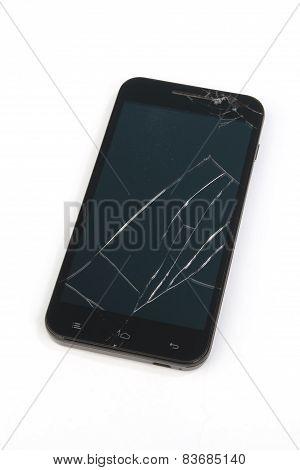 Smartphone With A Broken Display Screen