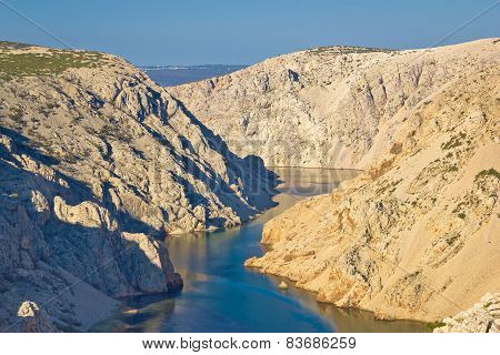 Canyon Of Zrmanja River In Croatia