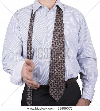 Man In Button Down Shirt And Loose Tie