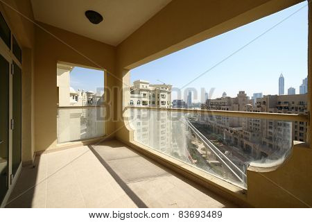 Balcony In Dubai Skyscraper