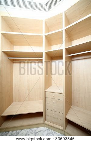 Modern Wardrobe In House Or Flat
