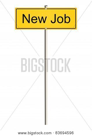 Job road sign