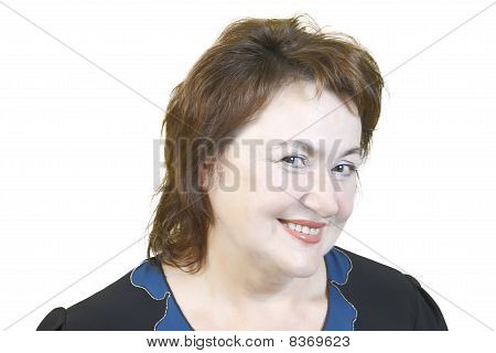 Portrait Of An Elderly Woman With Beautiful Smile