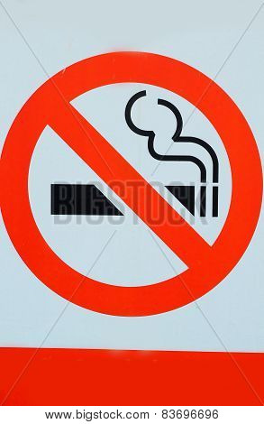 Signs Symbolize No Smoking.