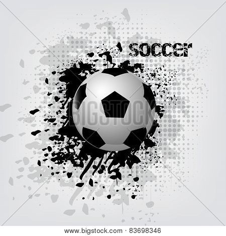 Soccer ball vector illustration with grunge effect