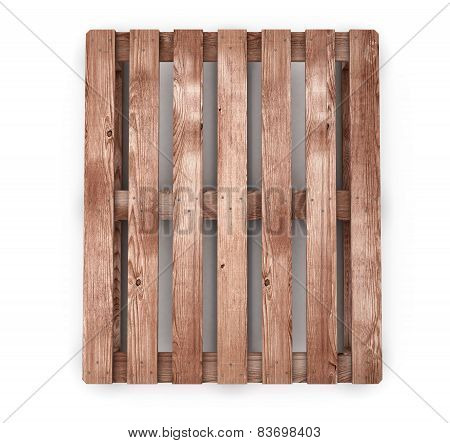 Old Wooden Shipping Pallet Front View