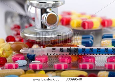 Ccolourful Pills And Capsules