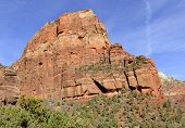 Постер, плакат: Red rock and canyon landscape in Zion National Park Utah
