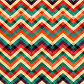 picture of zigzag  - zigzag seamless pattern with grunge effect  - JPG
