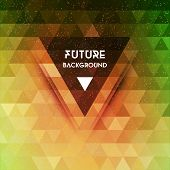 stock photo of future  - Abstract future vector background with triangle shapes - JPG