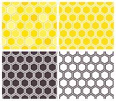 picture of honeycomb  - Honeycomb seamless pattern set - JPG