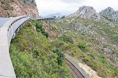 pic of fynbos  - View of Sir Lowreys Pass in the Hottentots - JPG