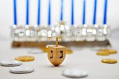 picture of hanukkah  - Photo of a dreidel  - JPG