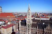 stock photo of munich residence  - The Munich city spring day skyline - JPG