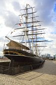 image of sark  - Cutty Sark ship which is docked in Greenwich on display in London - JPG