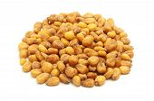 image of zea  - Roasted salted corn nuts on a white background - JPG