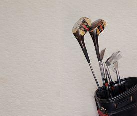 stock photo of golf bag  - Golf equipment - JPG