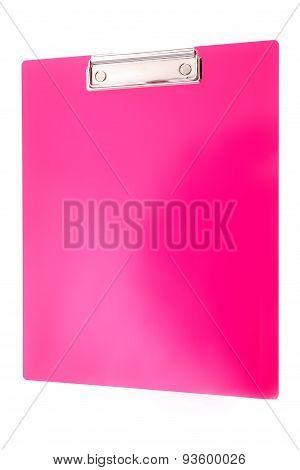 Pink Plastic Clipboard