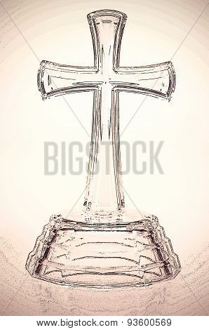 Glass Cross Symbol