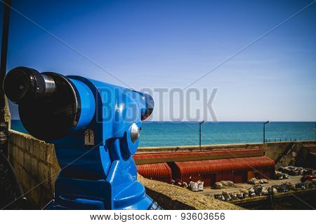 machine viewpoint, on the coast of Spain, summer scene in the Mediterranean