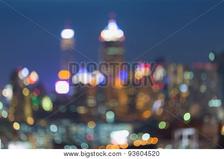 Out-of-focus city light blur bokeh background