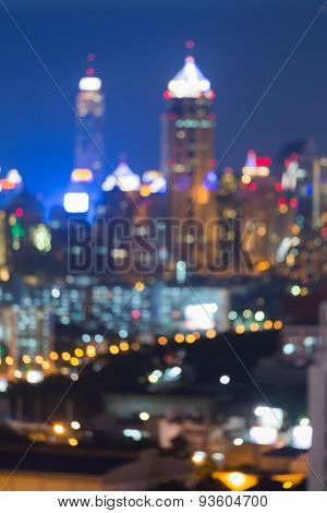 Abstract blur bokeh city night twilight time