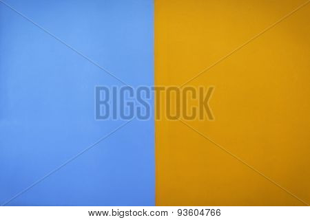 Blue And Orange Color Wall