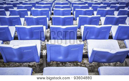 Blue Sports Arena Seats