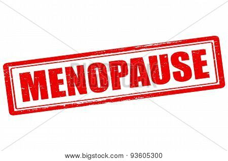 Rubber stamp with word menopause inside vector illustration