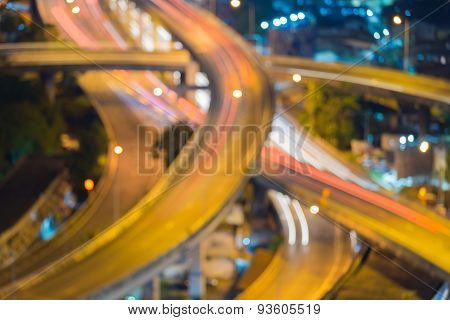 City lights blur bokeh background