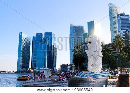 Merlion Singapore landmark