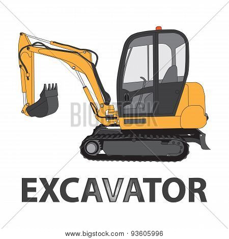 Excavator vector illustration.