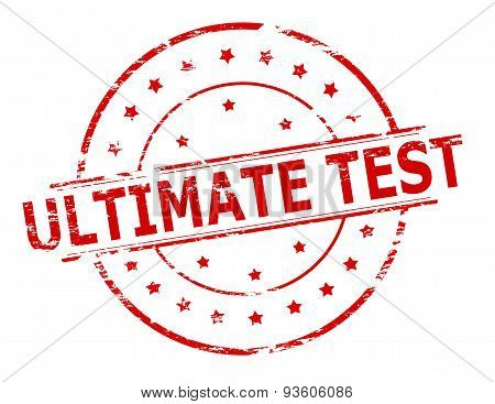 Rubber stamp with text ultimate test inside vector illustration